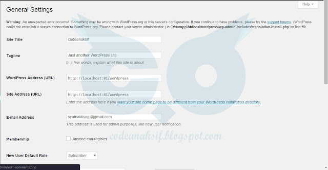Cara Edit Menu Settings pada Wordpress