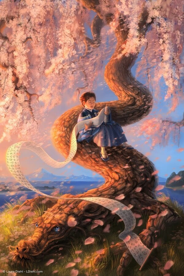 07-Dragon-Blossom-Laura-Diehl-Fantasy-www-designstack-co