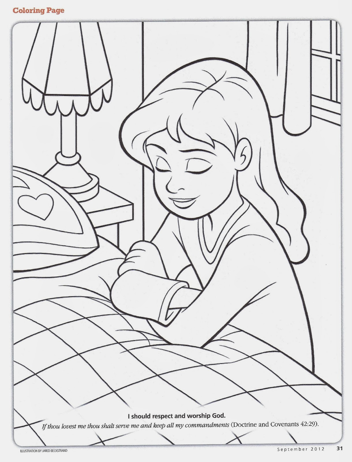 coloring pages about prayer - happy clean living primary 2 lesson 10