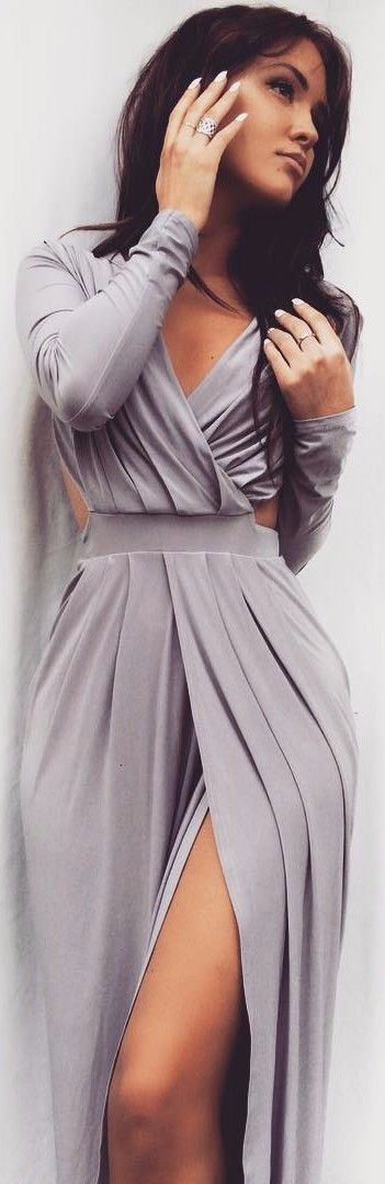 grey maxi