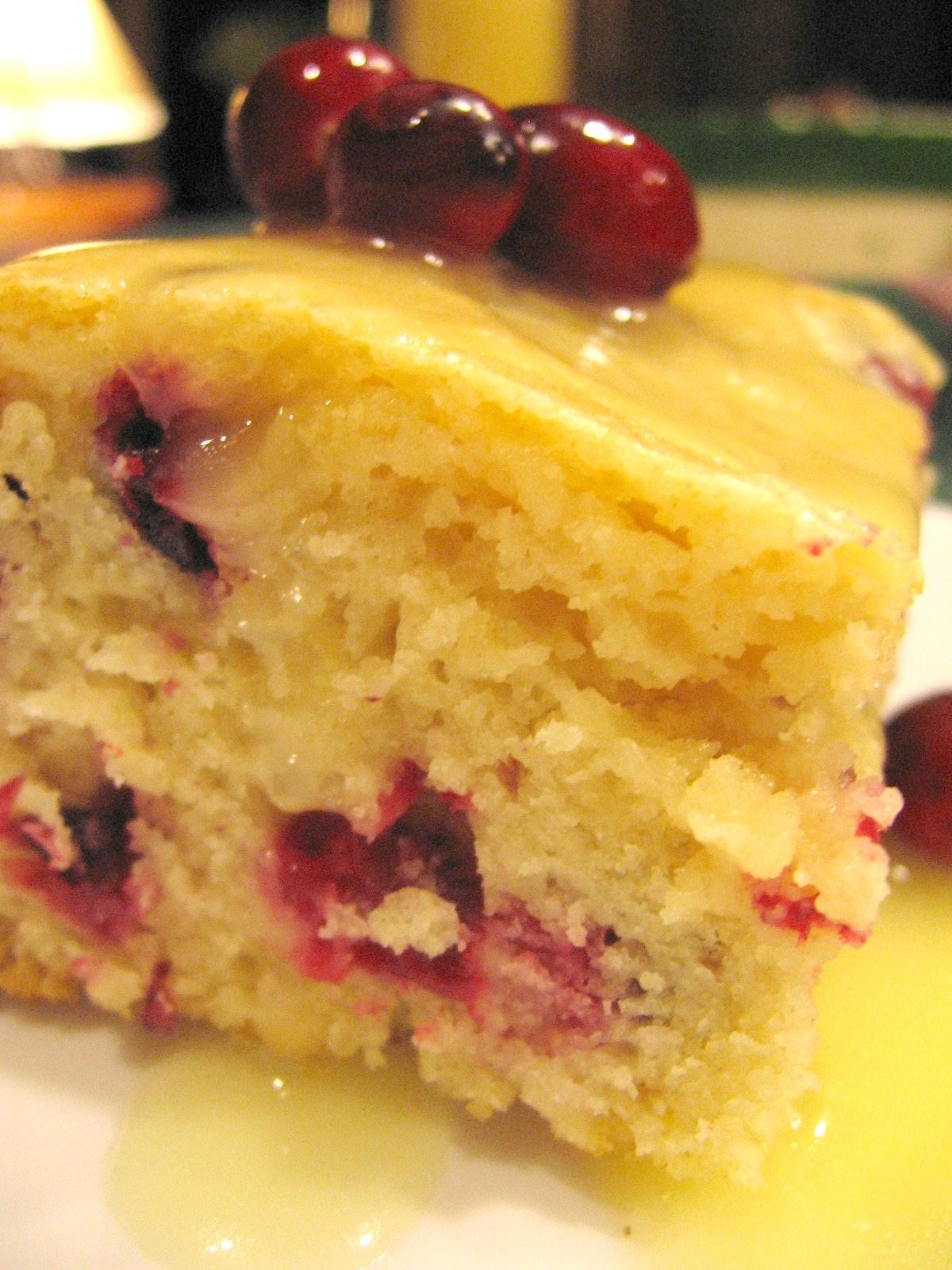 Cranberry Christmas Cake With Butter Sauce