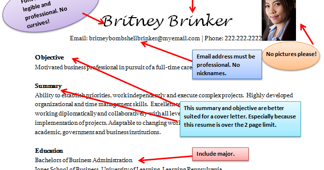 Bad Resume Example. how to not get hired on a travel job or any ...