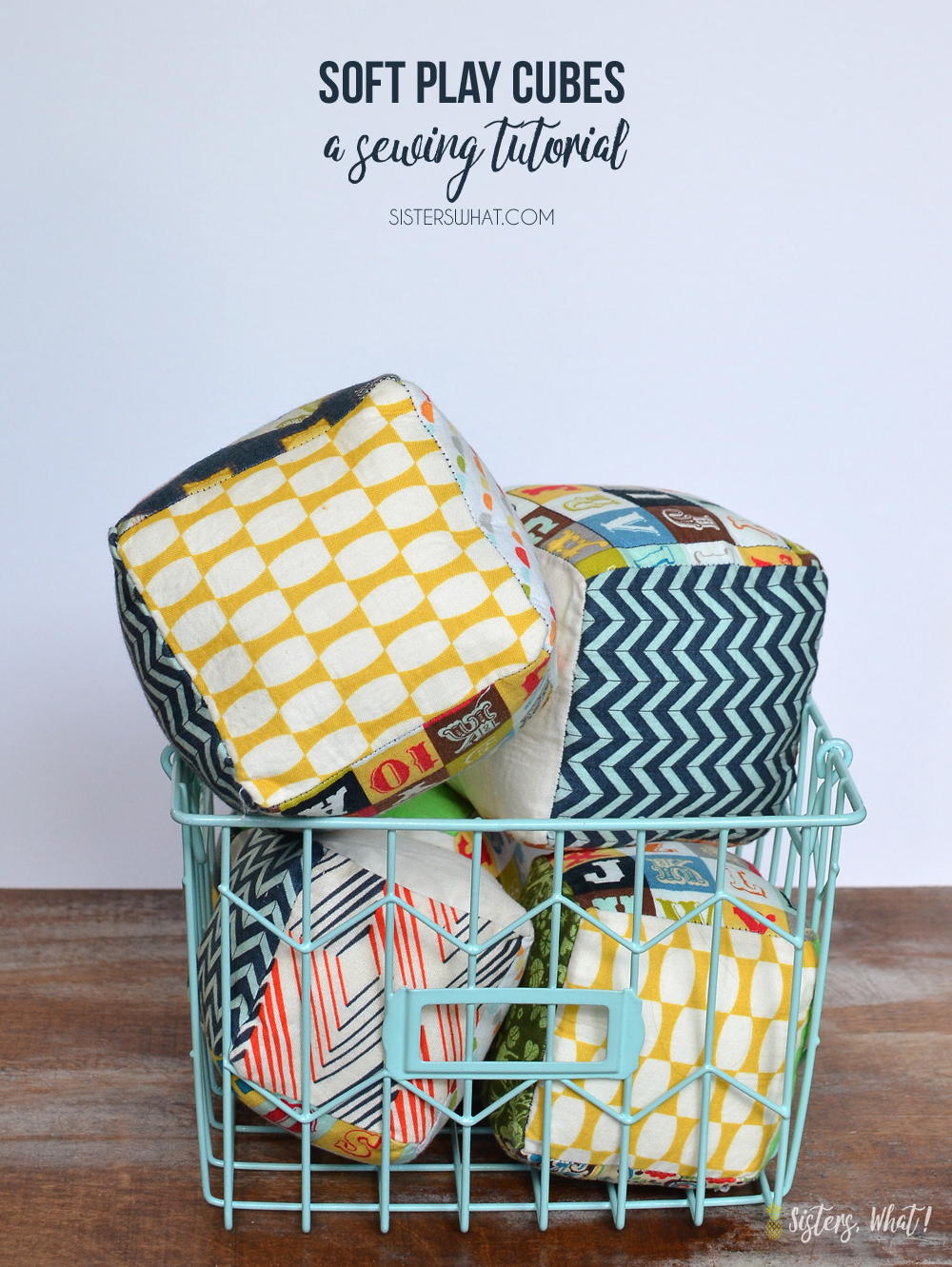 Soft play cubes sewing tutorial to make for kids of all ages!