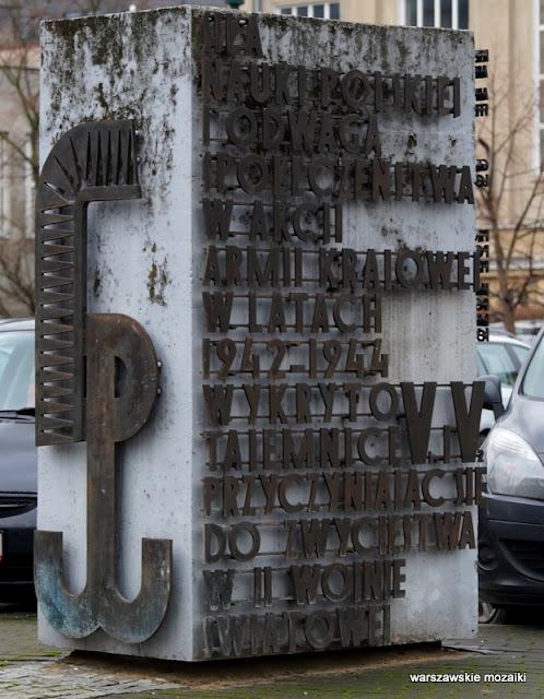 Warszawa Warsaw Politechnika Warszawska monument Nowowiejska