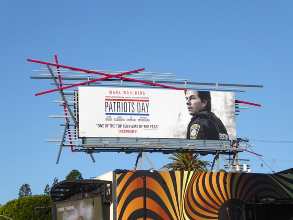 Patriots Day movie billboard