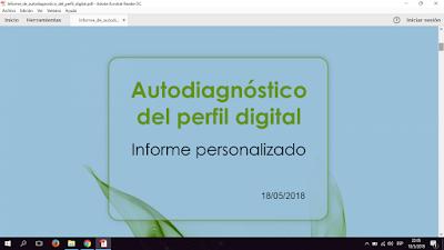 Informe de Autodiagnóstico del perfil Digital