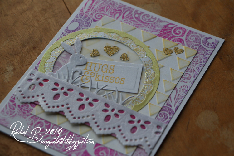 Scrapatout - Handmade card, Easter, Bunny, Hugs, Impression Obsession