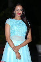 Pujita Ponnada in transparent sky blue dress at Darshakudu pre release ~  Exclusive Celebrities Galleries 106.JPG