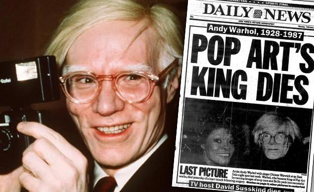 kenneth in the (212): Andy Warhol Died 29 Years Ago Today