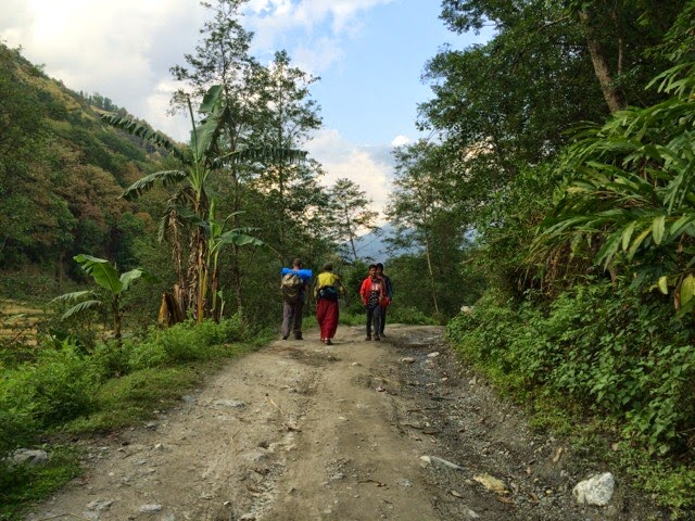 Trekking to villages affected by earthquake