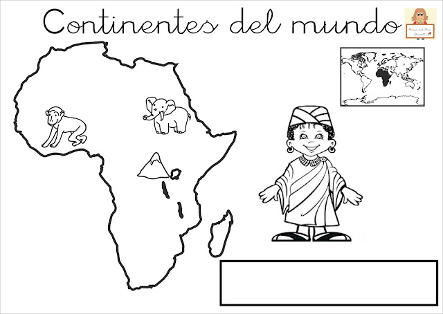 """Proyecto """"La vuelta al mundo"""". Fichas para imprimir."""