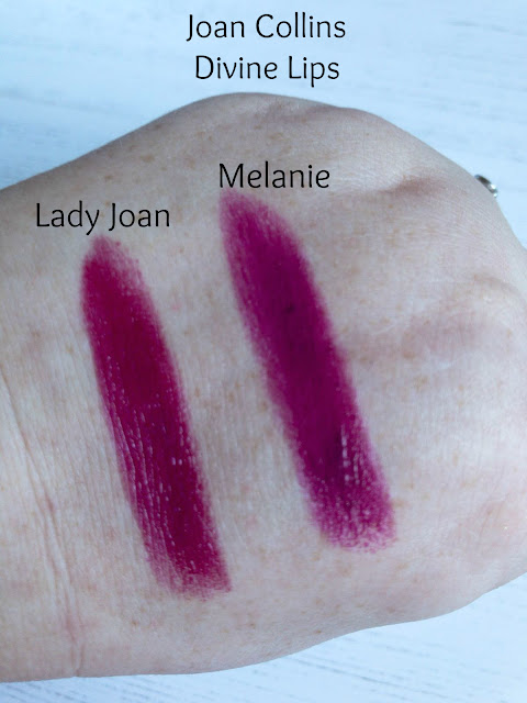 Joan Collins Divine Lipsticks Swatches
