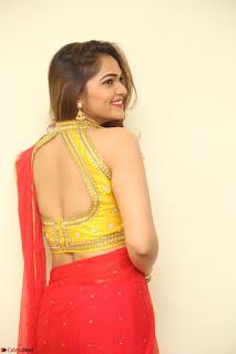 Actress Ashwini in Golden choli Red saree Spicy Pics ~  100.JPG