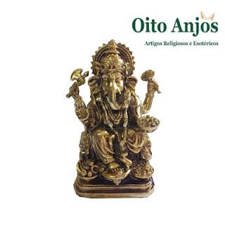 Imagem Ganesh Dourado Prosperidade (Mod.2)