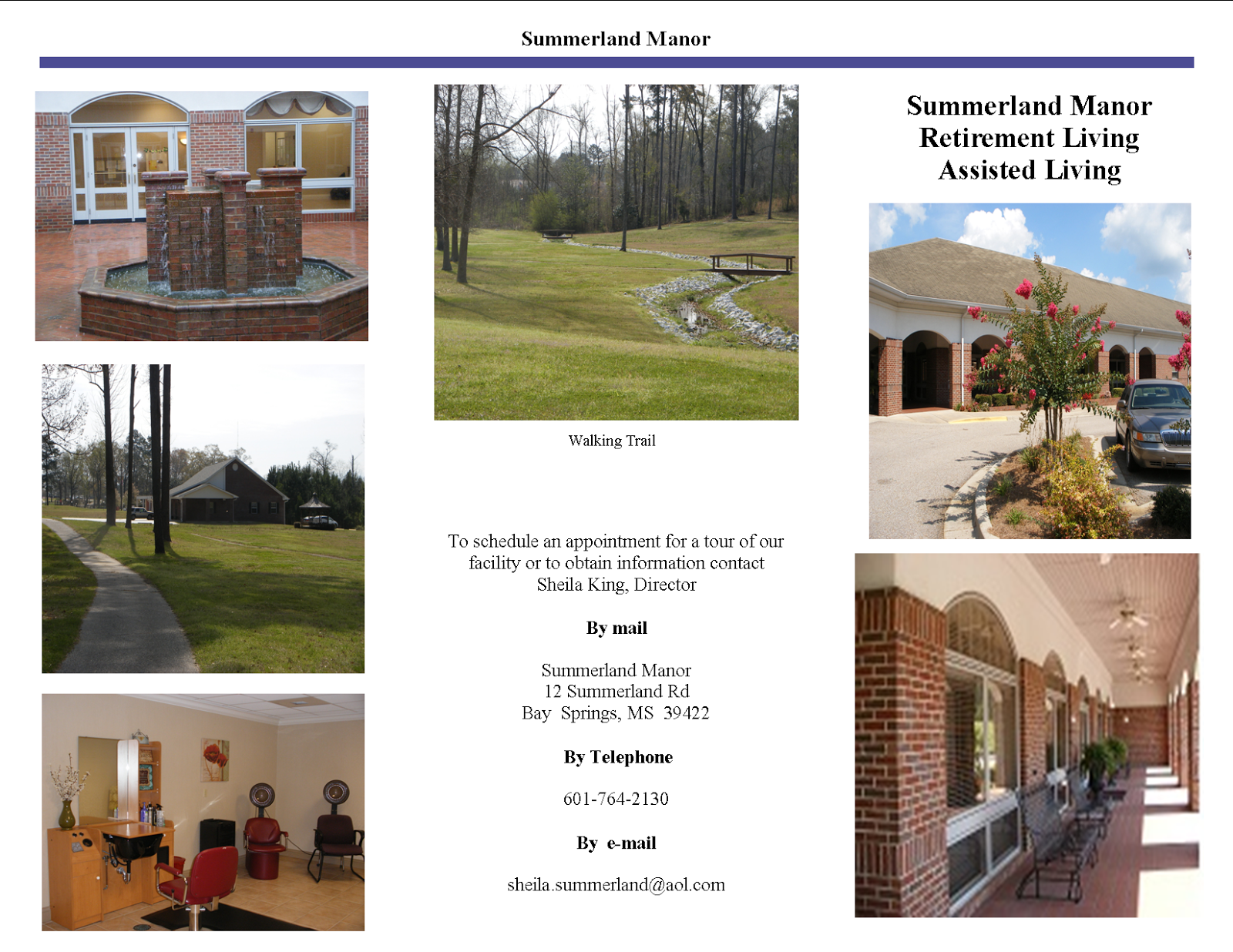 Summerland Manor Brochure