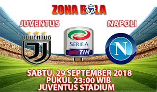 Prediksi Bola Juventus vs Napoli 29 September 2018