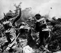 Soldiers of 2nd Polish Corps charging up Phantom Hill - Monte Cassino 1944