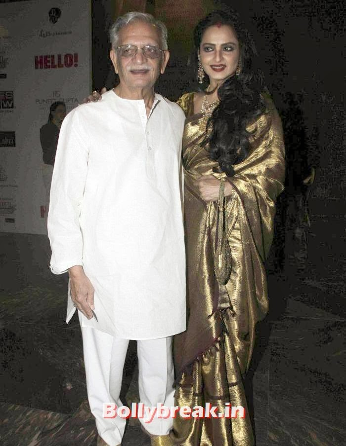Gulzar, Rekha, Hello Awards 2013 Pics