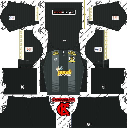 fe9b8641fca Perak TBG 2019 Kit - Dream League Soccer Kits - Kuchalana