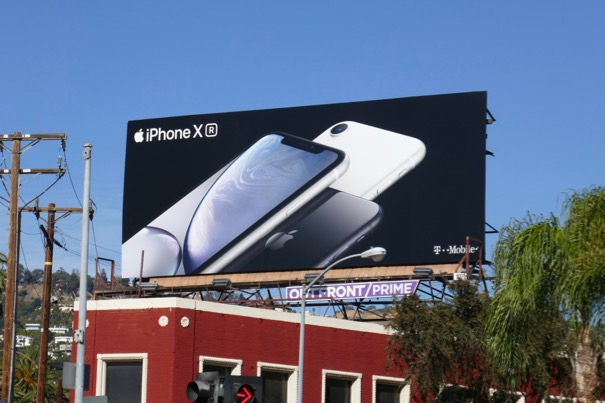 Apple iPhone XR white billboard