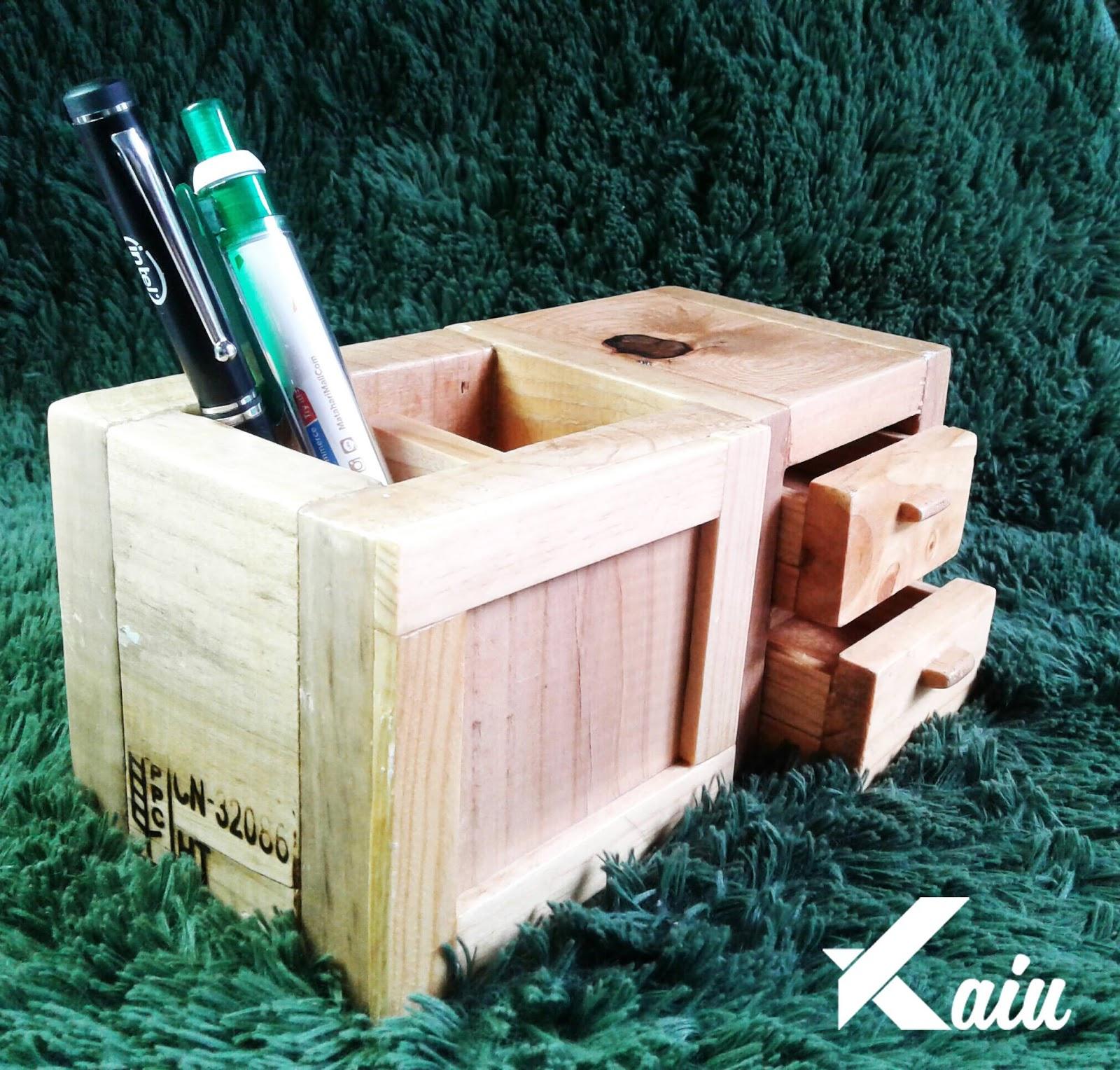 jual desk organizer dari pallet kayu KAIU Indonesia