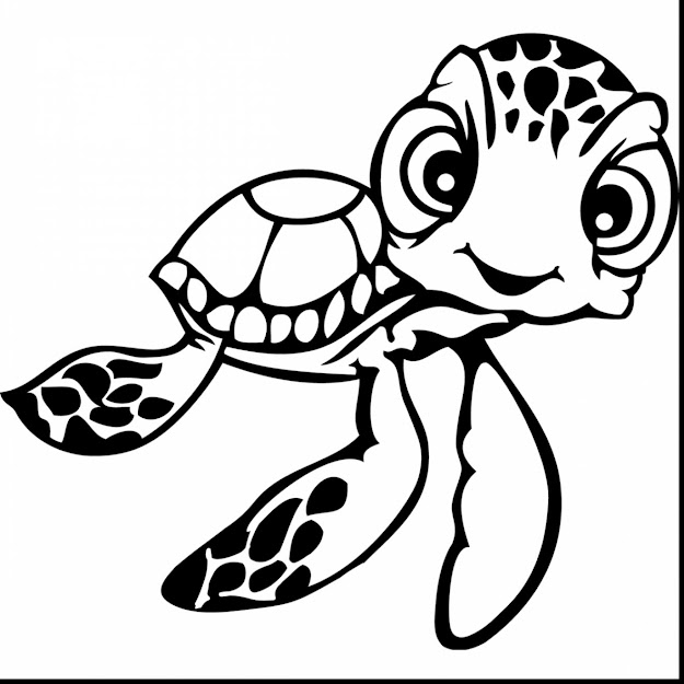 Amazing Crush Turtle Finding Nemo Coloring Pages With Nemo Coloring Pages  And Disney Nemo Coloring Pages