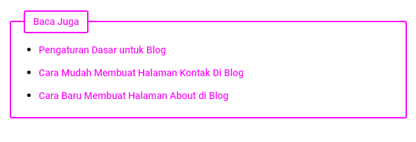 Cara mudah Membuat Related Pos di Blog