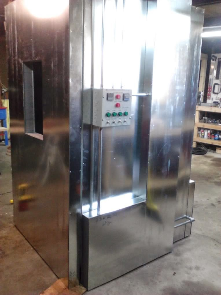 powder coating oven build control panel