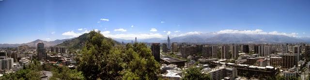 Santiago de Chile, desde el cerro de Santa Lucía