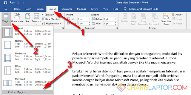 Mengatur Margin Microsoft Word