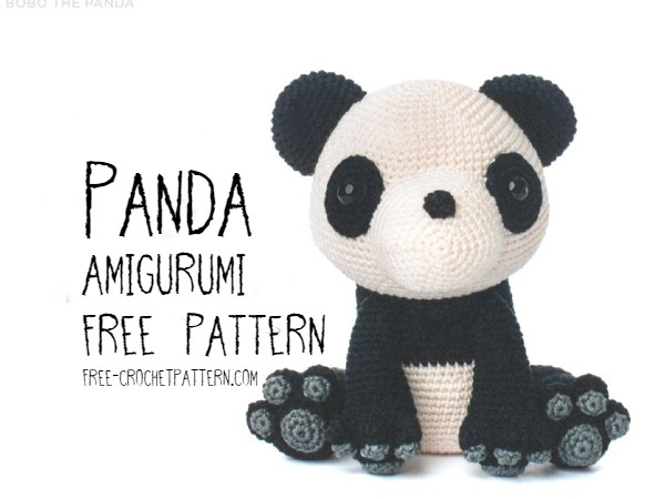 9 Crochet Panda Patterns – Cute Amigurumi Bear Toys - A More ... | 450x600