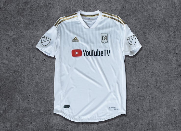 new products 7ae11 f2b44 LAFC 2018 Inaugural Season Home + Away Kits Released - Footy ...
