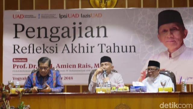 Amien Rais Sedang Siapkan Monograf untuk Jawab Desakan Mundur dari PAN