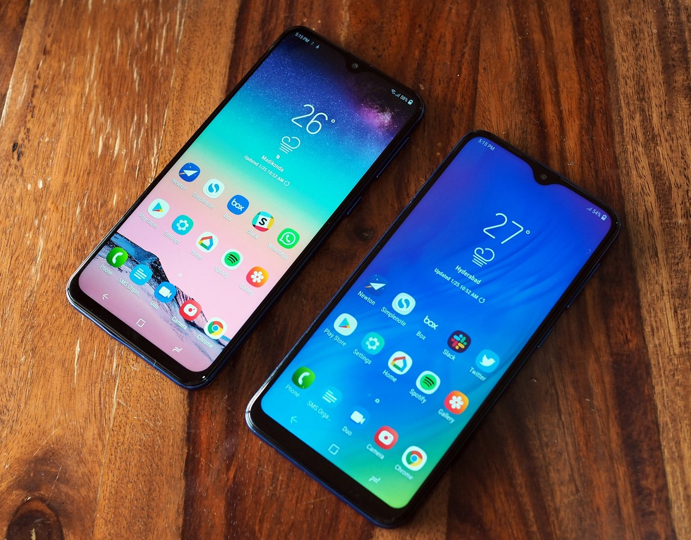 Samsung Galaxy M20, and Galaxy M10
