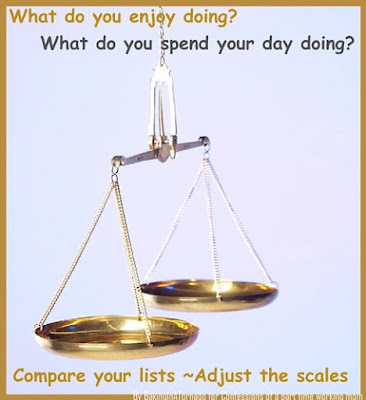 Adjust the scales, a thoughtful meme about life and balance | Made by www.BakingInATornado for Confessions of a part time working mom | #MyGraphics