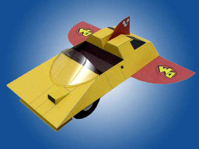 Danger Mouse Flying Car Papercraft