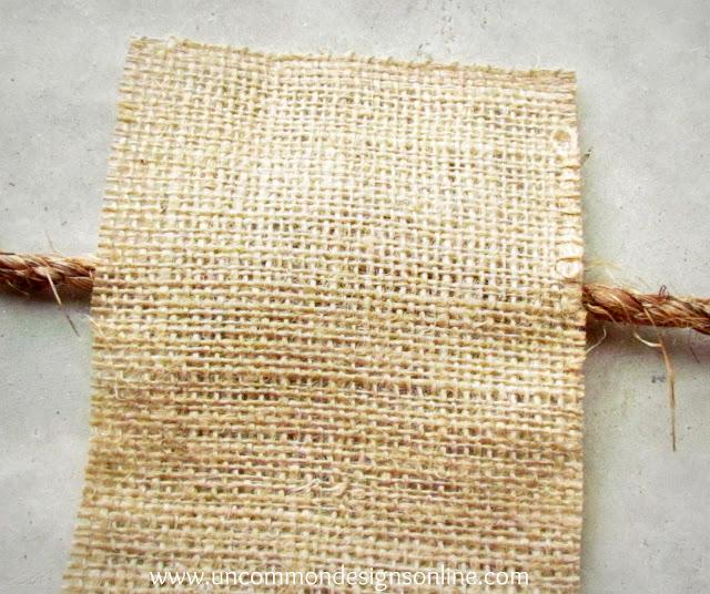 Dip Dyed fabric garland