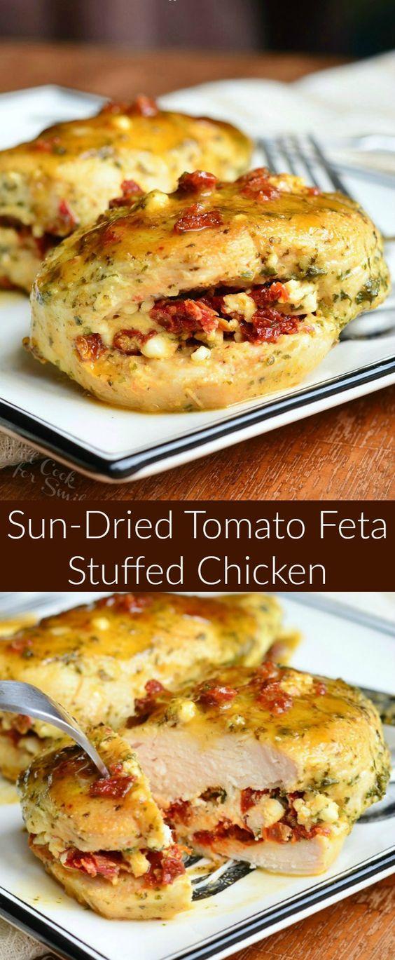 Sun Dried Tomato Feta Stuffed Chicken