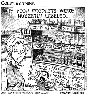 food label comic