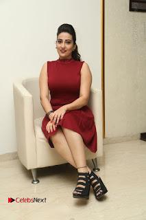 Telugu Tollywood Anchor Manjusha Pos in Red Short Dress  0115.JPG
