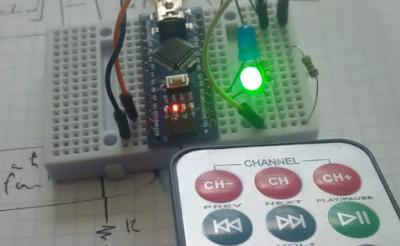 التحكم في اتجاه دوران محرك DC مع ARDUINO تحت أشعة الحمراء