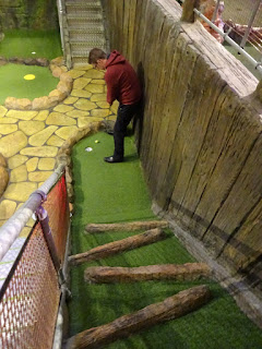 The Lost Valley Adventure Golf course in the Amazonia Play Centre at the Market Place in Bolton