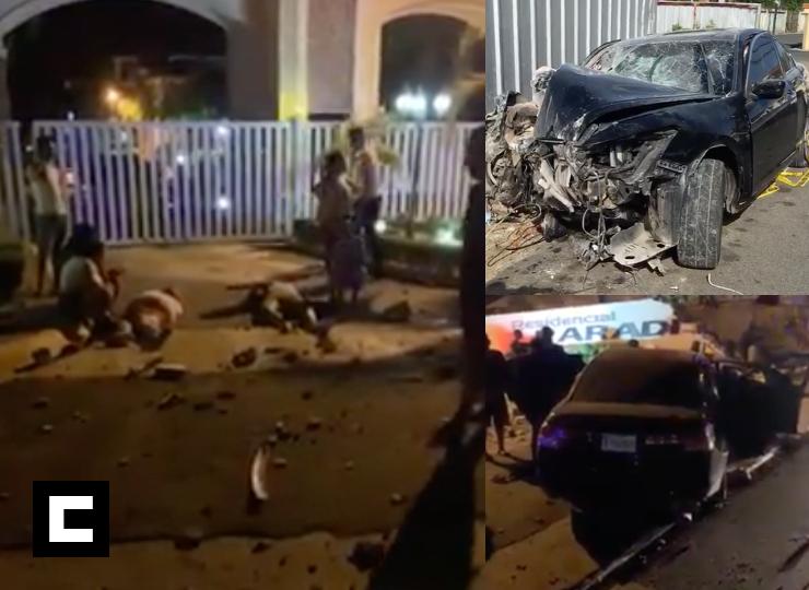 Video: Mueren dos mujeres tras vehículo impactar contra una pared en SFM