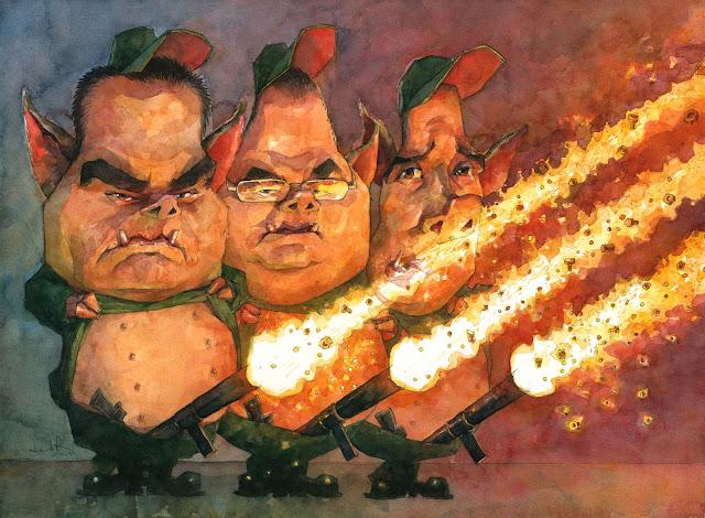Editorial cartoons-caricatures in spain