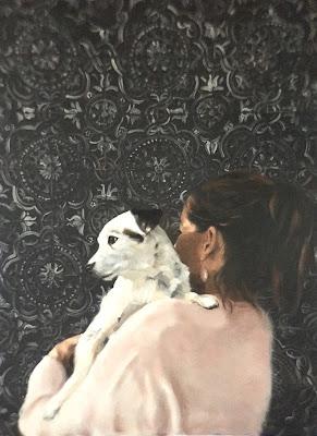 dog portrait commission, oil on canvas 60x80cm