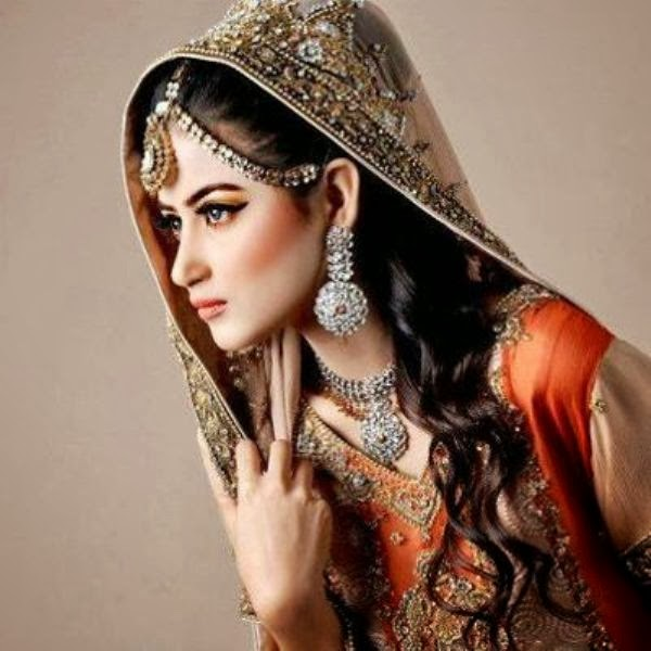 Indian And Pakistani Bridal Hairstyle 2014