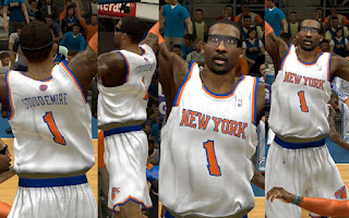 NBA 2K13 New York Knicks Home Jersey Mod