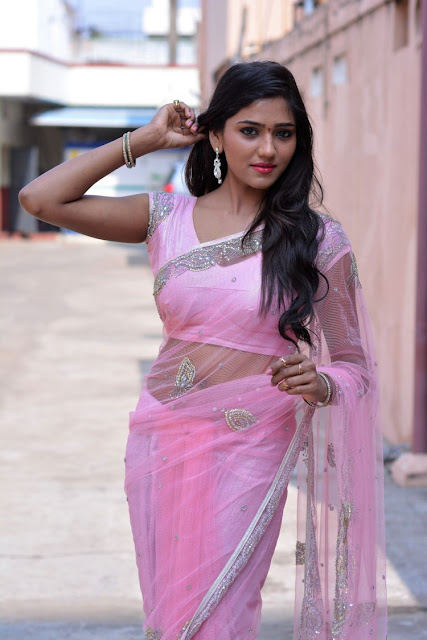 Shalu Chourasiya in Pink Embroidery Saree
