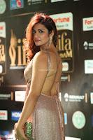 Telugu Actress Aarthi in Deep Neck Backless Golden Gown at IIFA Utsavam Awards 2017 Exclusive 21.JPG