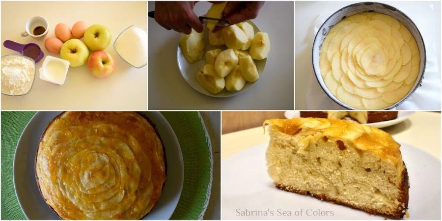 Preparación de Bizcocho de manzana y yogur